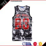 Yingzhong 2016 summer European and American men wear fashion diablo beauty printing Digital printed vest