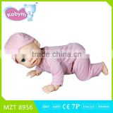 2015 New !Own design High Quality PVC Voice Control Crawl Sit Walk Newborn Baby Funny Doll