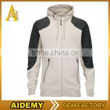 men's slim fit blank with hood gym french terry cotton hoodies