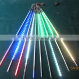 80cm long 5050 SMD 72leds/tube;RGB color LED Snow Fall Light Meteor led tube;12mm diameter;10pcs/set;AC90-260V input