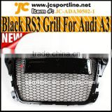 Glossy Black Front Radiator Grill Genuine Sportback RS3 Front Grille For Audi A3 S3 8P SFG 08~12