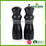 2016 black bamboo salt and pepper mill OEM factory China