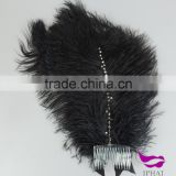 White and black ostrich feather fancy dress party dressed up headwear