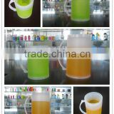 400ml personalized plastic double wall freezer mugs for beer