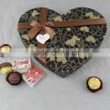 Custom logo design empty merci chocolate box with ribbon