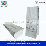 Flat bottom aluminium foil bag for drip coffee packaging /custom printing coffee bag with valve