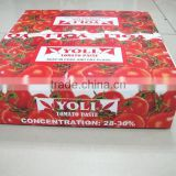 INquiry about 70 g sachet tomato paste in box and in carton