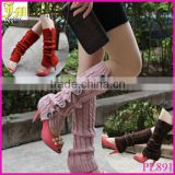 Korean Fashion New Buttons Down Fastening Keep Warm Knitted Gaiters Loose Wool Leg Guard Boot Cuffs Socks Knit Leg Warmers