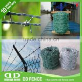 hot dip galvanized welded barbed wire road isolation and railway barbed wire razor flat fence