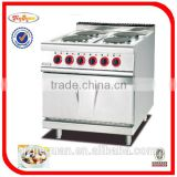 Stainless Steel Electric Range With 4-Burner and Oven for restaurant use(EH-887B)