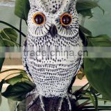 white smart popular PE small Electric sensor bird animal repellent garden plastic scare owl protect family
