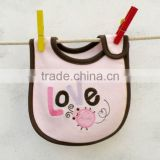 baby clothing cute emobroidered waterproof bibs for baby