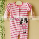 2011 spring baby clothes 100% cotton long sleeve embroider sleepwear