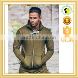 custom gym tracksuit top khaki gym hoodie slim fit hoodie wholesale