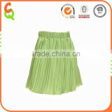 Summer season clothes double layer chiffon pleated skirt for girl