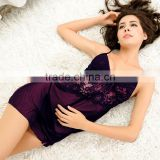 The new spring, summer, nylon mesh, sexy nightwear female temptation summer condole belt nightgown leisurewear Yarn bud silk nig