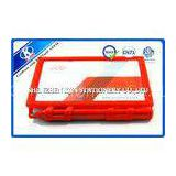 Red Hard Cover Memo Sticky Notes With Ball Pen , Sticky Block Pad