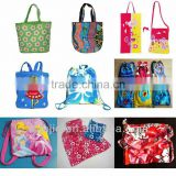 fashionable printed beach towel bag