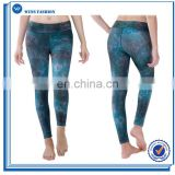 Stretch Allover Printed Yoga Capri Pant with Elastic Waistband