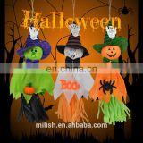 wholesale halloween decorations door hanging cheap cute straw ghost home door hanger for sale MFJ-0062