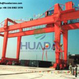 single beam electric hoist model portal trestle crane used in godown or exposed situation
