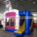 commercial grade customized Inflatable white horse Combo bouncer, inflatable catsle