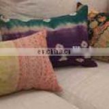 Vintage Kantha Quilted Pillow Cover Cotton Bed Pillow Large Size pillow