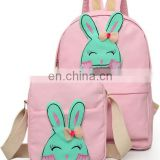 Hot sale canvas backpack with tote bag in stock