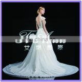 1A067 CX 2015 Lace Open Back Palace Wedding Dress Real Picture Show Bridal Muslim Wedding Dress Long Tail