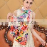 Digital Printing 100% Silk Scarf Shawl