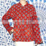 Coat Hand Block Print Jacket Handmade Indian Winter Jacket