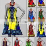 African dashiki Dress Sexy-Women Women Traditional African Print Dashiki Dress Short Party Dress Many Colors all in stock