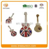 Commemorative UK Guitar Hard Enamel Metal Badge/Hot-selling Metal Lapel Pin