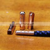 manufacturer supply metal bullet shaped aglet brass cord tips for shoe lace & crimp tool