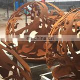 Sphericity Shape Corten Steel Fire Pit