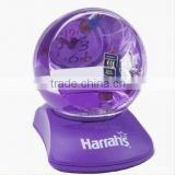 Unique Design Snow Globe with Table Clock, Resin Figurine Snow Water Ball