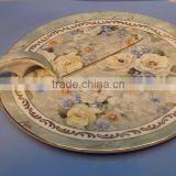 porcelain cake plate with stand for wedding use ceramic dinner plate with cheap price from shandong lin yi