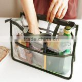 new Korean cosmetic bag wash bag portable multifunctional double zipper pvc waterproof storage bag
