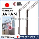 high quality balcony clothes drying rack with simple structure made in Japan