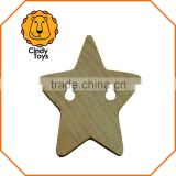 DIY Wooden Craft Knobs Stars 60 pcs for Kids