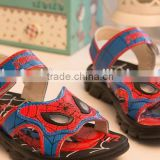 The Avengers Movie lighted spiderman sandals wholesale spiderman Student Shoes sandals spiderman 26-31 size