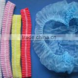 Disposable PP Nonwoven doctor Surgical bouffant Mob Cap CE ISO FDA