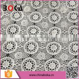 boka wholesale water soluble cotton lace fabric for women's fashion garment on factory price