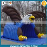 Newest brand Inflatable football tunnel for sport with eagle shape cartton/inflatable mascot tunnel/inflatable sport tunnel