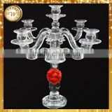 Top level best selling crystal glass ball candle holder