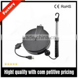 Supper brightness narrow portable LED working light with retractable power cord