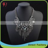 Fashion Jewelry High Quality layerout chain gem stone necklace for women