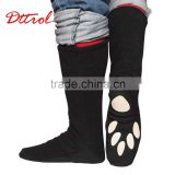 D006067 Black knee high boots of the women wholesale western boots