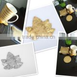 Adiabatic pvc golden leaf Cup Coaster Pad Nonslip Cushion Placemat