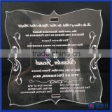 Custom made logo printing acrylic invitation card for wedding, birthday / wedding invitation card